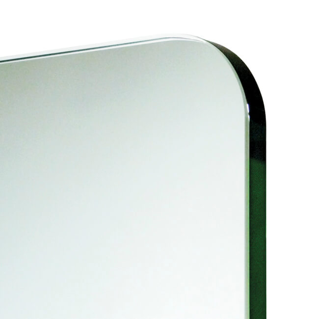tempered glass with rounded corners, polished and chamfered edges | île© marcal