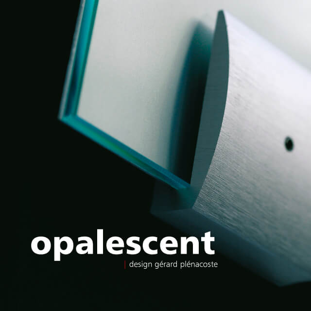 tempered glass signage with aluminum clamp | opalescent© marcal