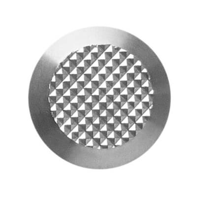 stainless steel 316L tactile button with non-skid diamond relief | podoinox© marcal