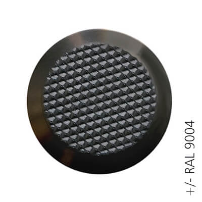 black ral 9004 ABS tactile button with non-skid diamond relief | podoinox© marcal