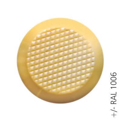 yellow ral 1006 ABS tactile button with non-skid diamond relief | podoinox© marcal