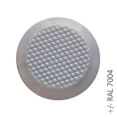 gray ral 7004 ABS tactile button with non-skid diamond relief | podoinox© marcal